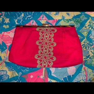 Lilly-Pulitzer Opening Night Clutch Jacquard